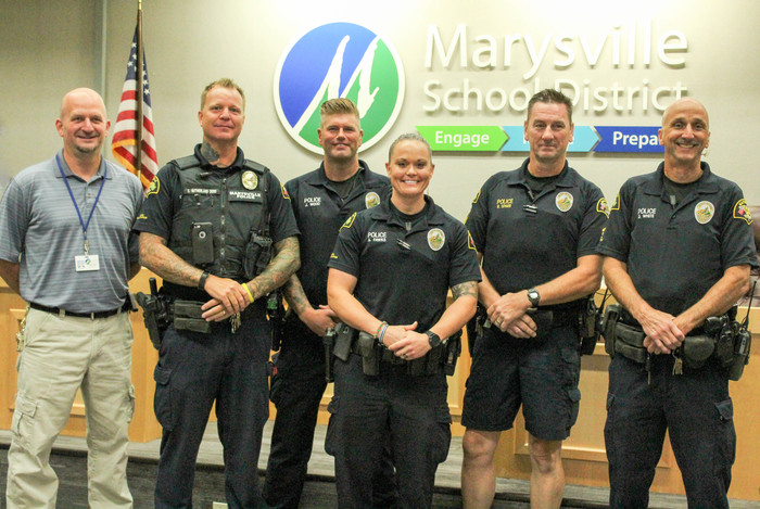 Image: Marysville School District School Resource Officers and Security Director Greg Dennis