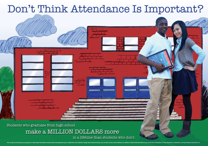 Don't think attendance is important? Students who graduate from high school make a million dollars more in a lifetime than students who don't.