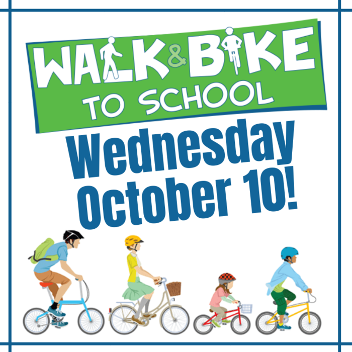 Image: Walk or Bike to School Day, Wednesday, October 10
