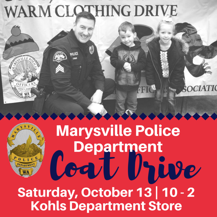 Image: Marysville PD Coats for Kids Drive