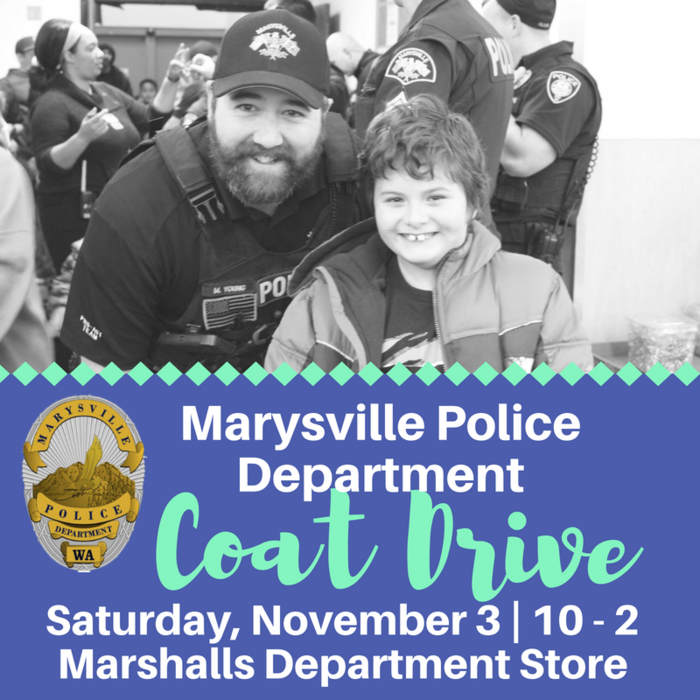Image: Marysville PD Coat Drive