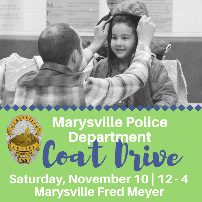 Image: Marysville Police Department Coat Drive