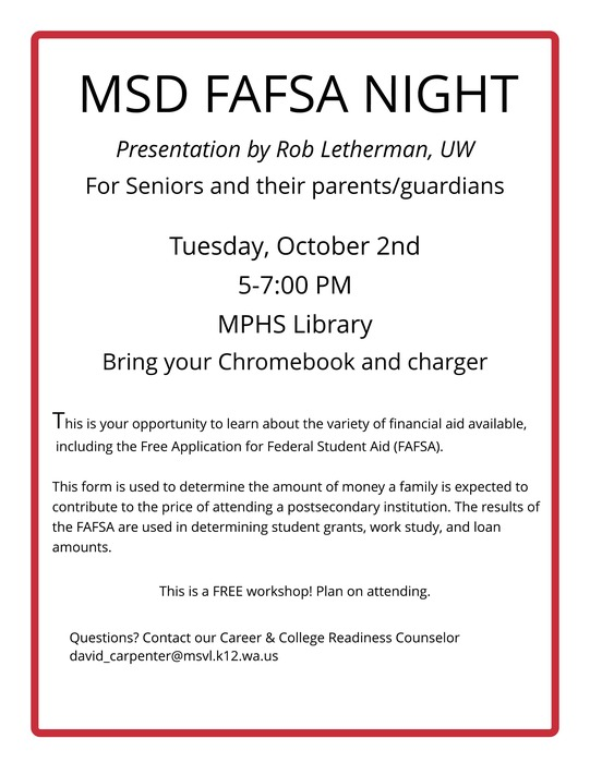 FAFSA NIGHT ATMP