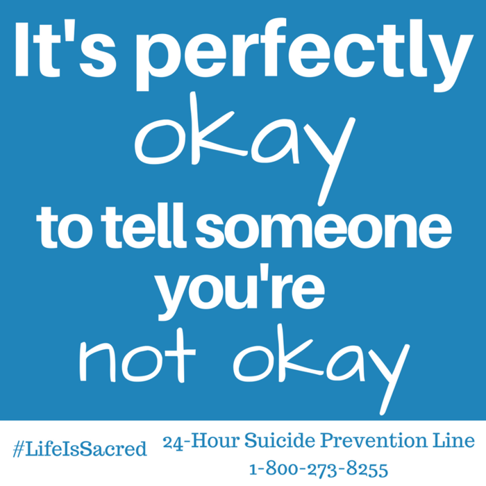 Image: It's perfectly Ok to tell someone you're not ok