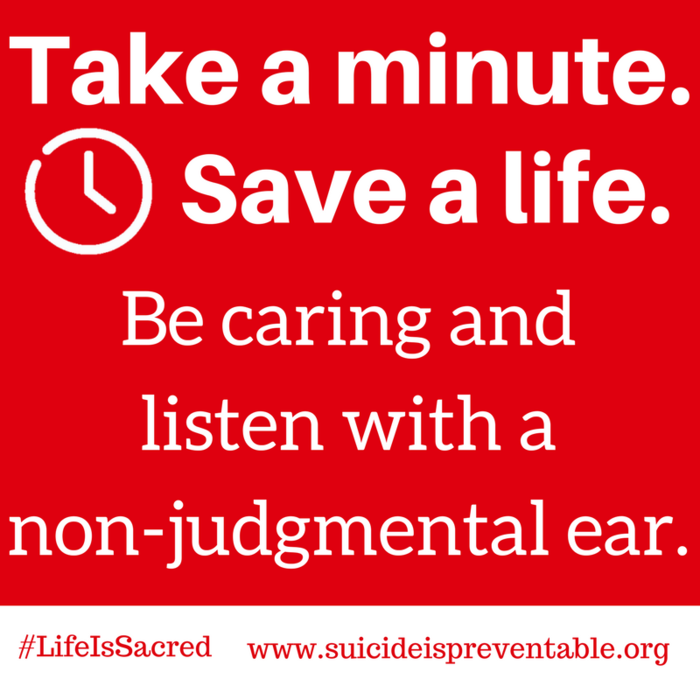 Image: Take A minute, Save a life