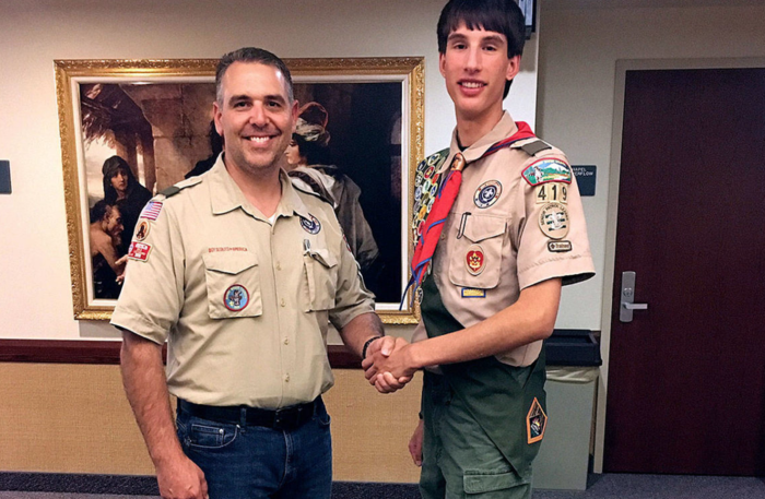 David Samaniego, of Marysville, has earned the Boy Scouts of America Eagle Scout Award. The award will be presented at an Eagle Scout Court of Honor on Nov. 3. (Contributed photo)