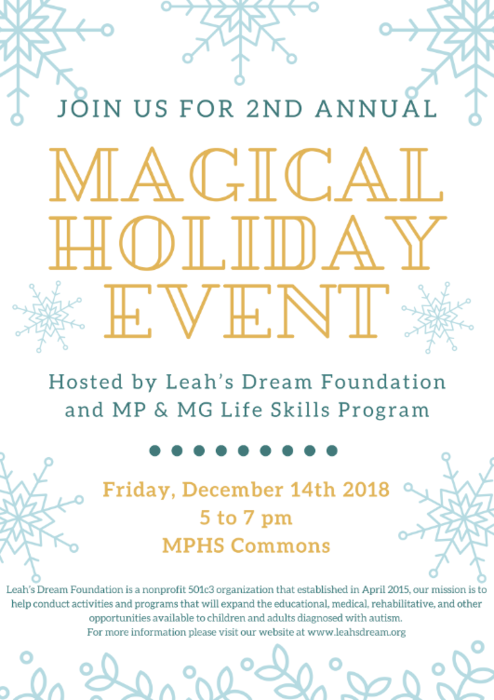 Leah's Dream Foundation Holiday Event