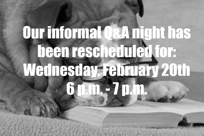 Rescheduled Info Night