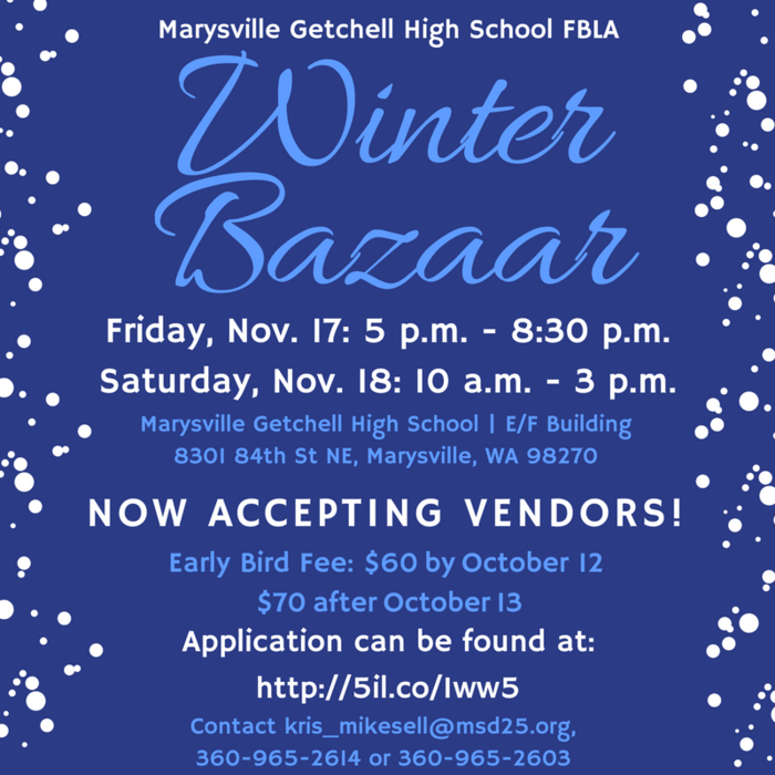 Winter Bazaar Flyer