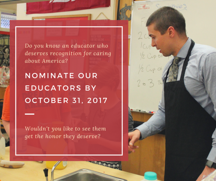 VFW Teacher Nomination Flyer