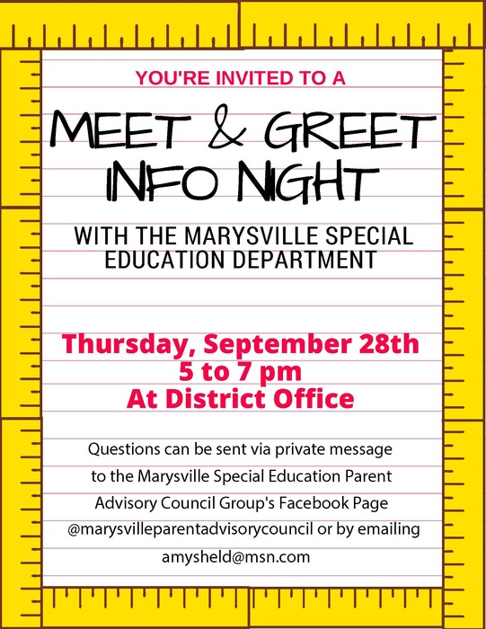 Special Education Meet and Greet Invite