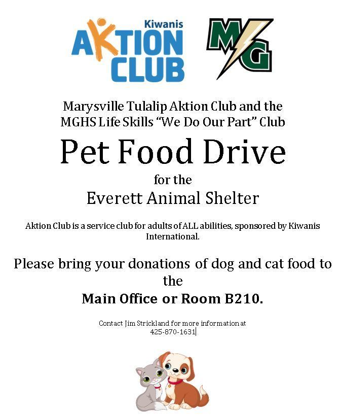 MG Pet Food Drive