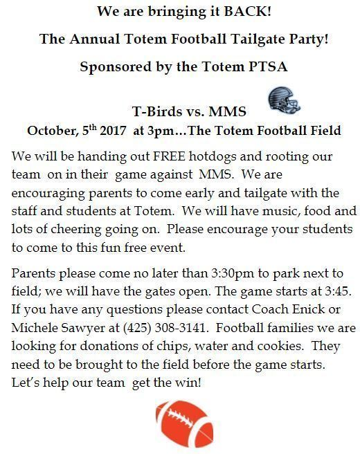 PTSA TMS Football Tailgate Party Image