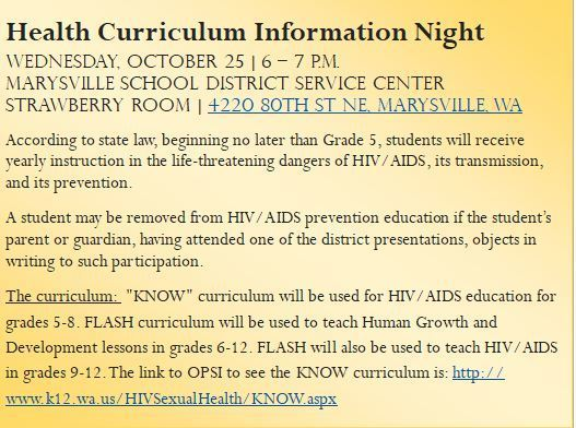 Health Curriculum Information Night