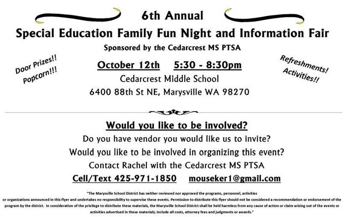 Special Education Family Fun Night