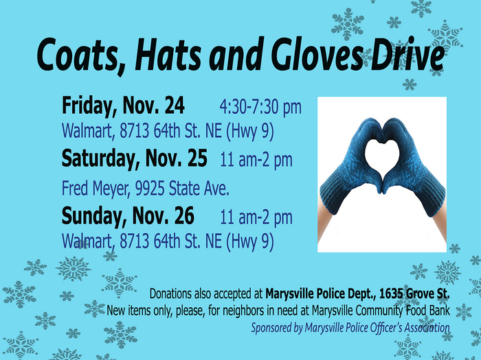 Coat, Hats and Glove Drive Image