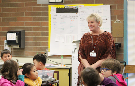 Photos of Dr. Berg at Pinewood Elementary