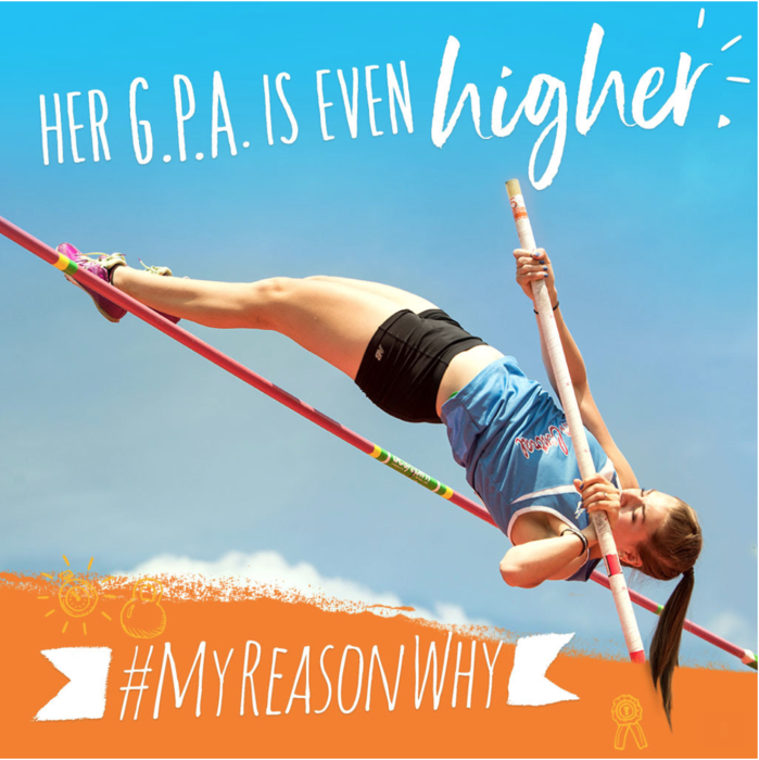 *Girl doing pole vault* Her GPA is Even Higher #MyReasonsWay