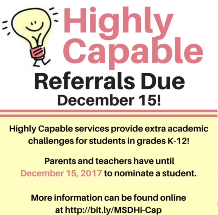 Highly Capable Referrals