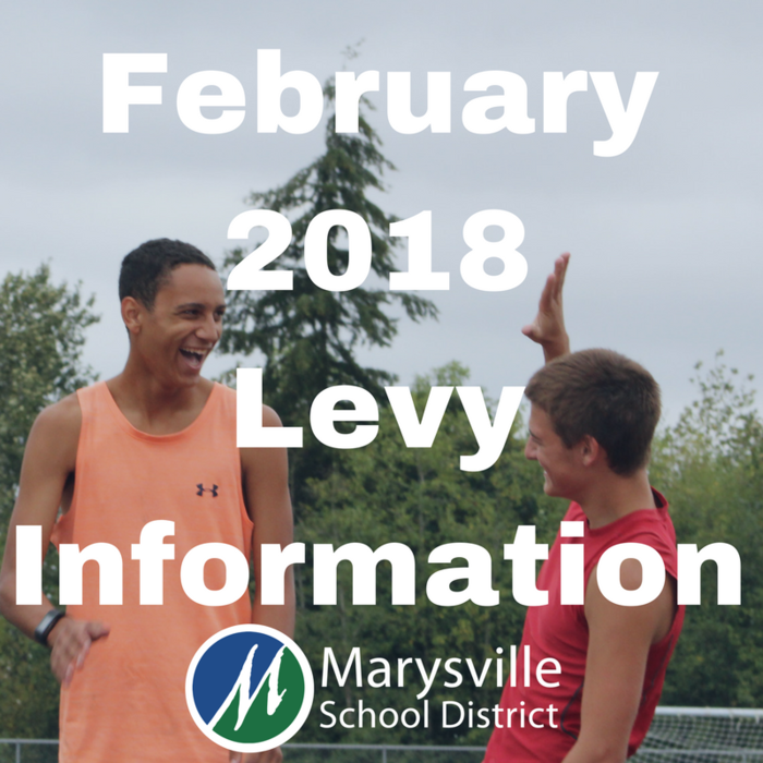 The two levies on February's ballot are not new taxes. They ensure Marysville students continue to receive basic educational resources.  Learn more at www.msd25.org/february-2018-levy-information