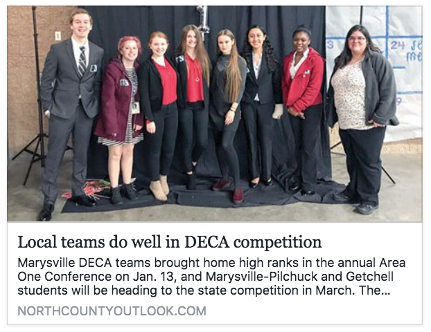 Image From News Clip: Local teams do well in DECA competition