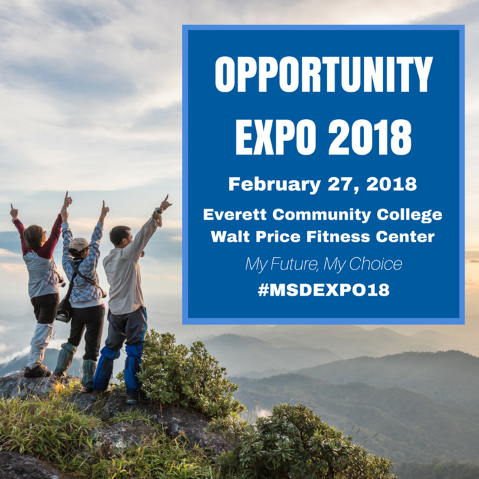 Opportunity Expo 2018, February 27, 2018 - 8:30 a.m. to 12:30 p.m., Everett Community College, Walt Price Fitness Center, 2206 Tower St, Everett, WA 98201