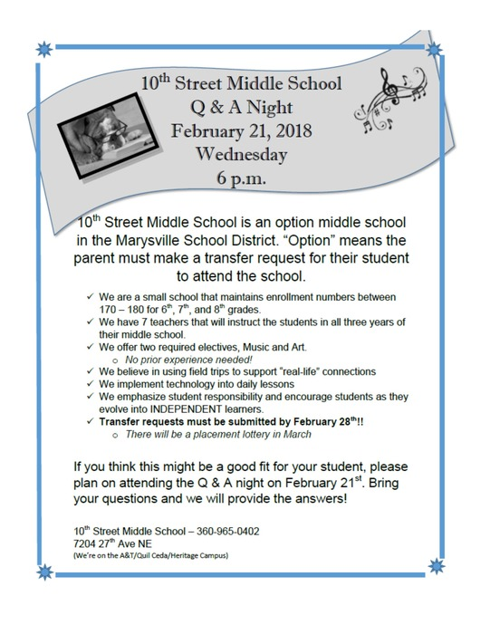 10th Street Information Night