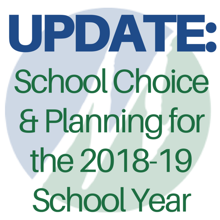 IMAGE with Words - UPDATE: School Choice and Planning for the 2018-10 School Year