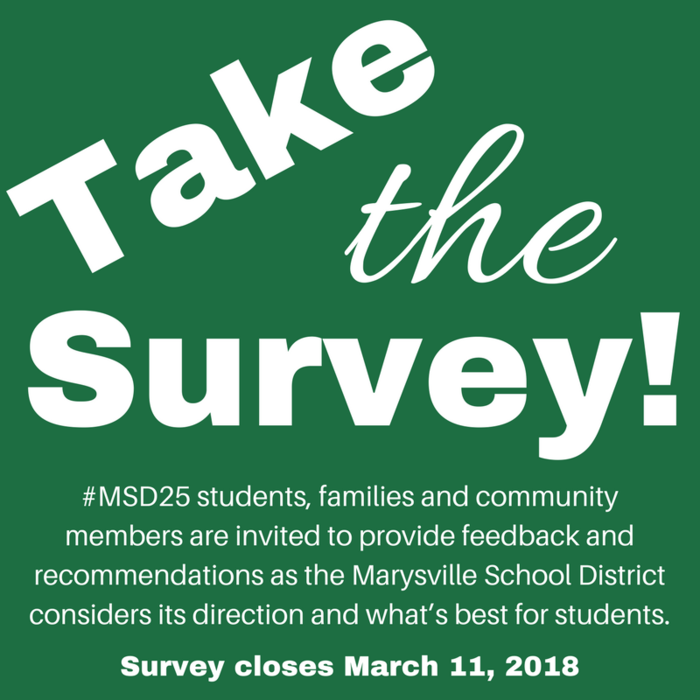 Take the Survey Image: Closes March 11.