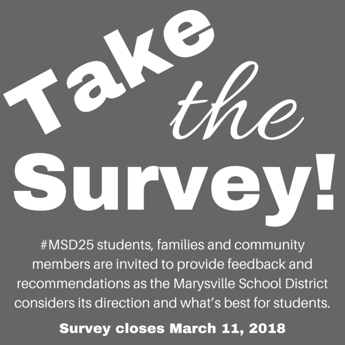 Take the Survey Image: March 11, 2018