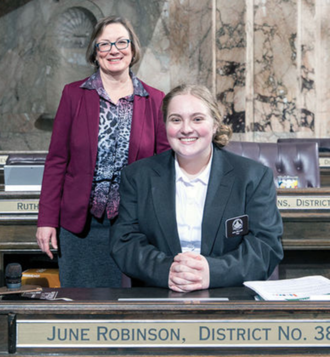 Image of Ava Miller with Rep. June Robinson