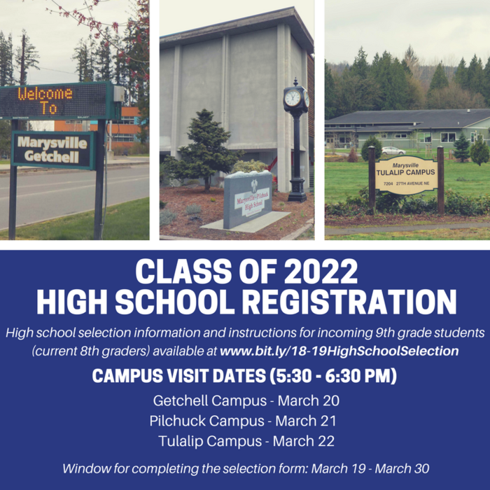 Class of 2022 High School Registration Image