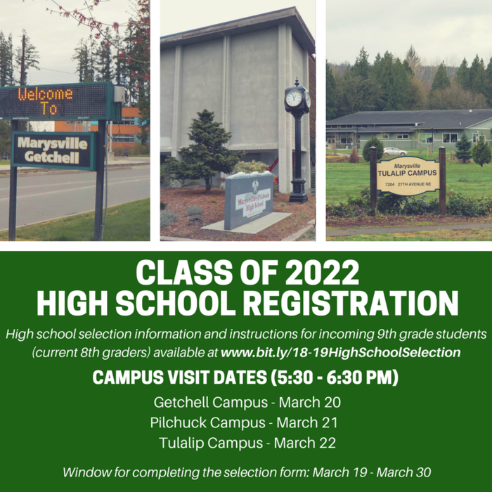 Image: Class of 2022 High School Registration