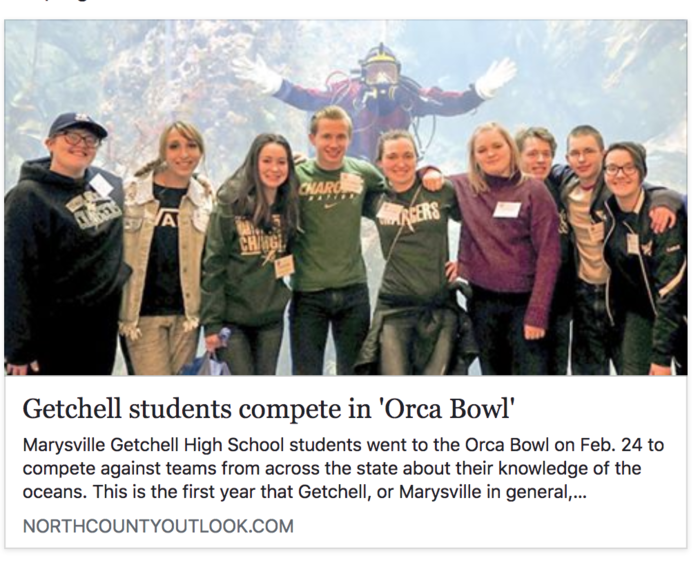Photo of students at ORCA Bowl