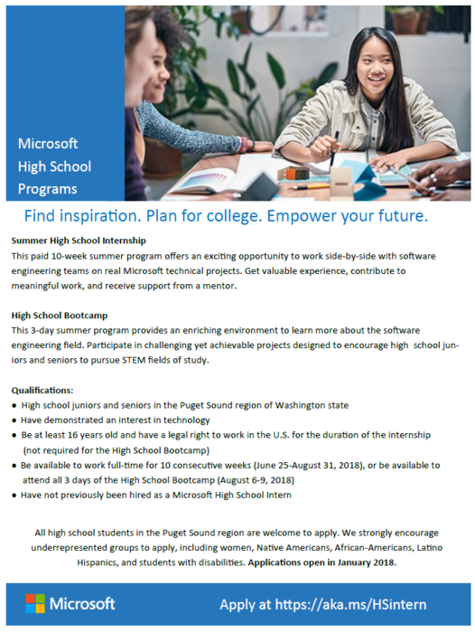 Microsoft High School Programs