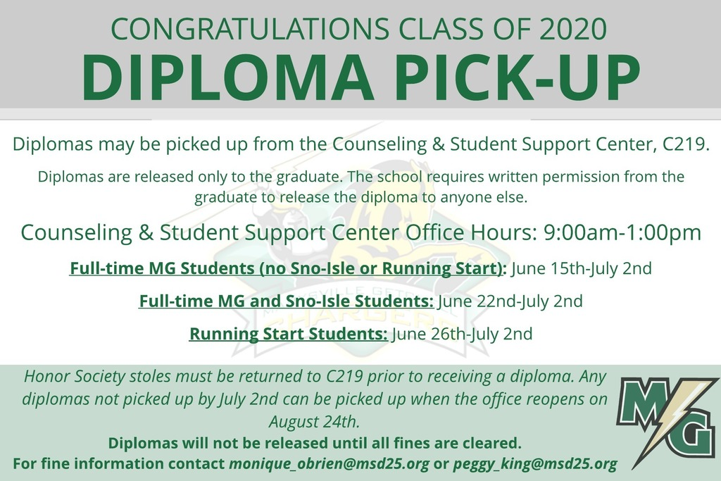 Diploma Pick-up Information