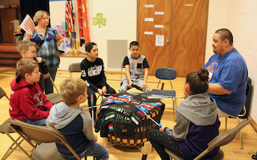 Photo of kids drumming