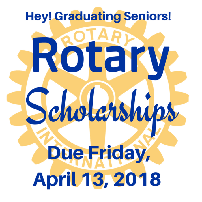 Rotary Scholarship Application Image