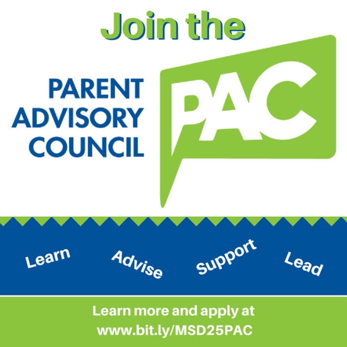 Join the PAC! Learn, Advise, Support, Lead. Learn more and apply at www.bit.ly/MSD25PAC